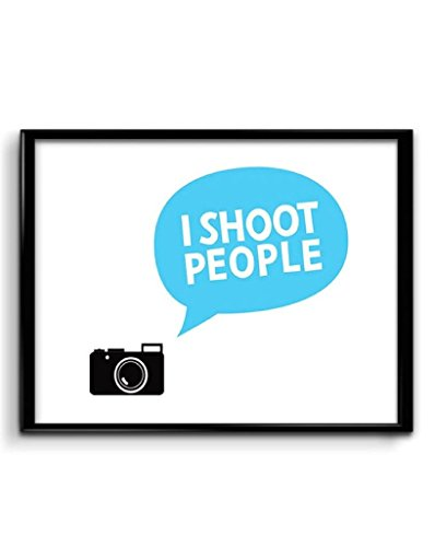 Ownclique 300 GSM Paper I Shoot People for a Living HD Print Matte Poster (20 cm x 10 cm x 3 cm, Blue)  available at amazon for Rs.195