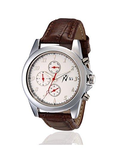 Yepme Men's Chronograph Watch – Silver/Brown_YPMWATCH2520