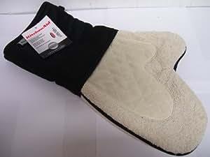 Kitchenaid black cool zone oven mitt fits either hand kitchen dining - Kitchenaid oven gloves ...