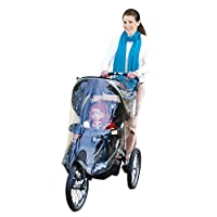 J is for Jeep Jogging Stroller Weather Shield, Baby Rain Cover, Universal Size, Waterproof, Water Resistant, Windproof, See Thru, Ventilation, Clear, Plastic, Protection, Shade, Umbrella, Pram, Vinyl by HIS Juveniles