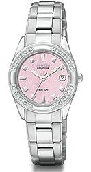 Citizen Women's Eco-Drive Regent 20 Diamonds Sapphire Crystal Watch EW1821-55X