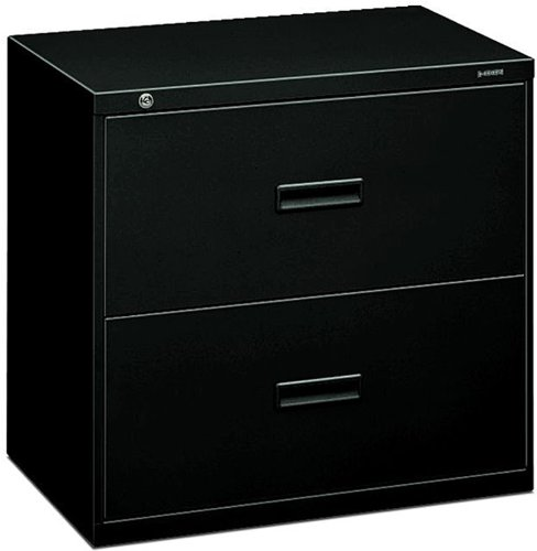 HON 432LP 400 Series 30 by 28-3/8 by 19-1/4-Inch 2-Drawer Lateral File, Black