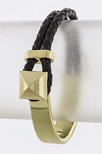Baubles & Co Pyramid Tip Bracelet (Black/Gold)