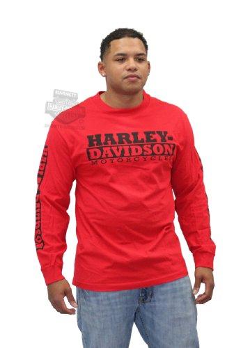 Harley-Davidson Mens Red Devil H-D Motorcycles Red Long Sleeve T-Shirt - Lg