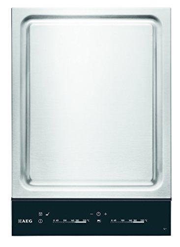 AEG-HC452601EB-Domino-Kochfeld-TeppanYaki-Edelstahl-autark-Kochstelle-Grill-36cm