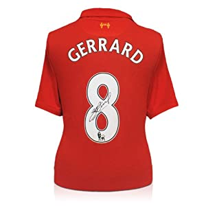 Steven Gerrard Signed Liverpool Home Shirt 2012-13 from Exclusive Memorabilia