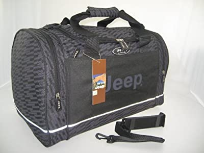 jeep holdal luggage travel cabin bag shoulder hand bag grey sports gym duffel bag holiday weekend bag