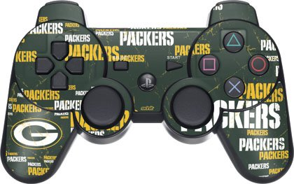 Nfl - Green Bay Packers - Green Bay Packers Blast - Sony Ps3 Dual Shock Wireless Controller - Skinit Skin