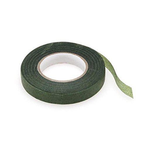 Green Floral Tape Stem Wrap Gum Paste 1/2″ X 30 Yards 180 Feet Total Flower Tape