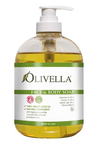 Olivella Face and Body Soap Made from Italian Virgin Olive Oil, Net 16.9 Fl. Oz.
