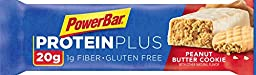 PowerBar 20g Protein Plus Bars, Peanut Butter Cookie, 2.29 Ounce (Pack of 15)