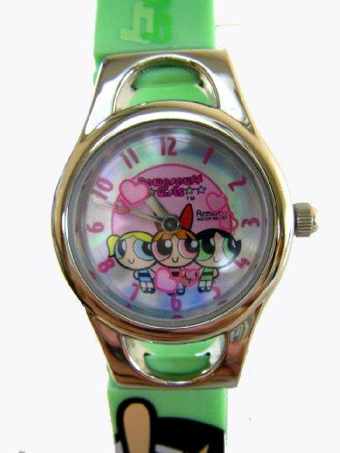 Powerpuff Girls Watch W / Green Jelly Band