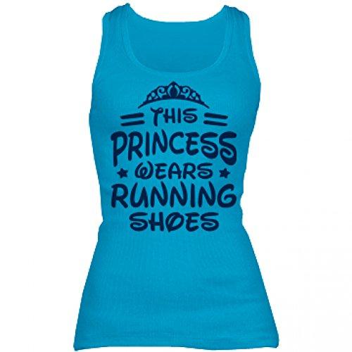 Princess Run No Glass Slippers: Junior Fit Basic Bella 2x1 Rib Tank Top XXL Turquoise