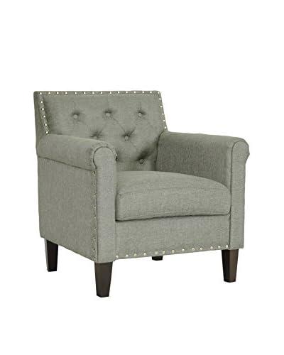 Baxton Studio Thalassa Arm Chair, Grey