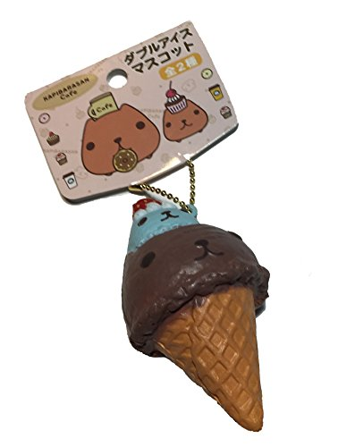Authentic Nic Kapibarasan Cafe Series Double Scoop Ice Cream Cone Squishy Chocolate and Mint (Rilakkuma Ice Cream compare prices)