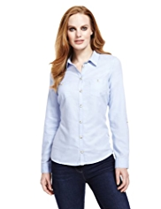 M&S Collection Pure Cotton Oxford Shirt