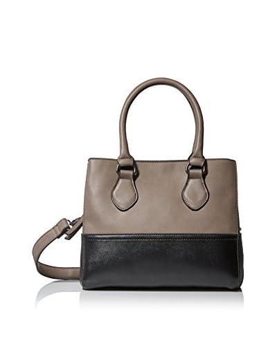 SOCIETY NEW YORK Women's Satchel Bag, Grey/Black