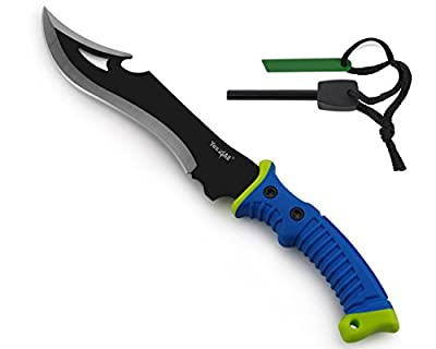 Yes4All Survivor Outdoor Fixed Blade Hunting Knife - Best Camping Knife