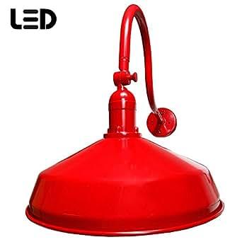 Red Gooseneck Sign Light Outdoor Barn Light LED Barn