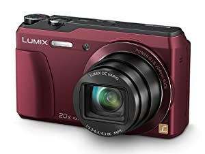 Panasonic Lumix DMC-TZ55EB-R Compact Digital Camera - Red (16.0MP, 20x Optical Zoom, High Sensitivity MOS Sensor) 3 inch LCD