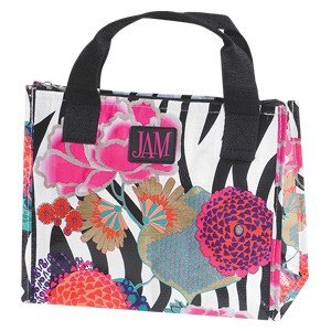 """Jam Asian Floral Insulated Lunch Bag (9 3/4"""") / Tote / Zippered / Durable"""