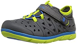 Stride Rite Made 2 Play Phibian Sneaker Sandal (Toddler/Little Kid),Grey,4 M US Toddler