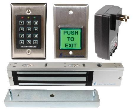 Alarm Controls Lock N A Box Magnetic Door Access Control System 600Lb Holding Capacity
