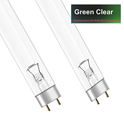 GENUINE GREEN CLEAR 2 x 30W WATT UV BULB (30w) - REPLACEMENT T8 LAMP FOR POND UVC (ULTRA-VIOLET) FILTERS - PACK of 2