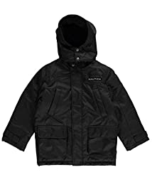 Nautica Big Boys\' Heavyweight Coat, Deep Black, Small