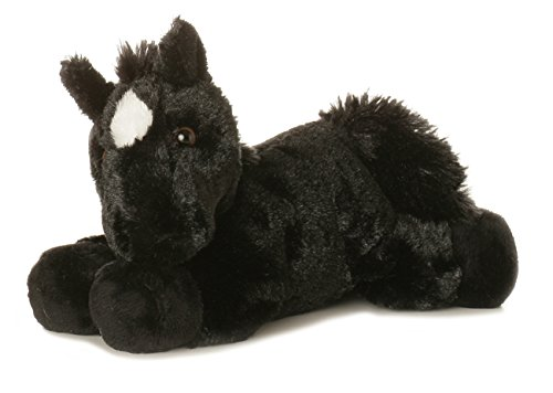 Aurora Plush Beau Black Horse Mini Flopsie 8""