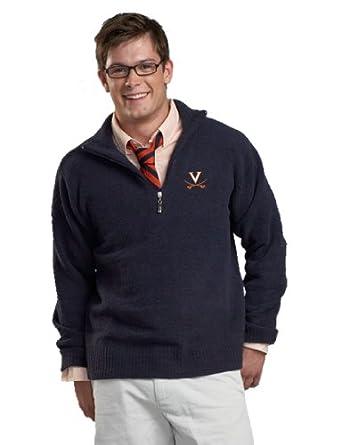 NCAA University of Virginia Kashwere U Unisex Half Zip Pullover (Navy, X-Large 46-48) by Kashwere U