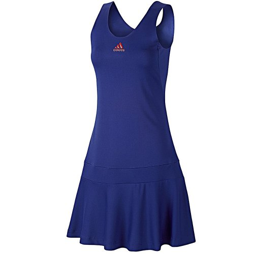 Adidas AdiPure Ladies Court Tennis Dress - Blue/Rose -