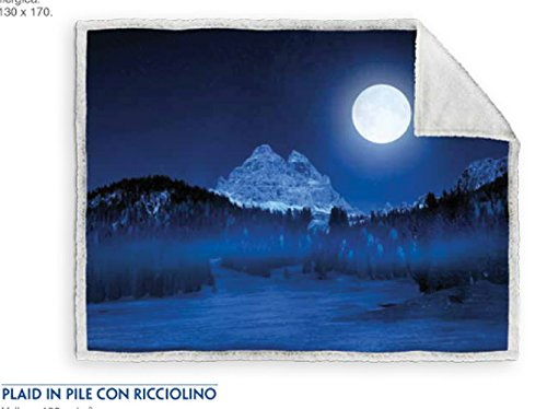 Caleffi coperta Plaid 3 Cime di Lavaredo cm 130x160