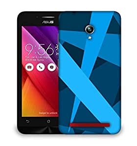 Snoogg Blue Color Strips Designer Protective Phone Back Case Cover For Asus Zenfone GO