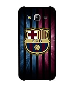 chnno Fcb 3D Printed Back cover for Samsung Galaxy J3 -Multicolor