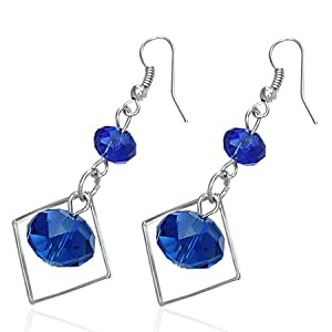 Amazon.com: Fashion Dark Blue Beads Square Drop Hook
