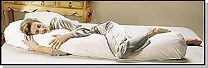 Sleeping Bean Body Pillow Kapok Fill and Pillowcase - White