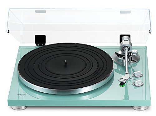 Lowest Prices! TEAC TN-300-TB Turquoise Turntable with Built-in Pre-amplifier & USB Output