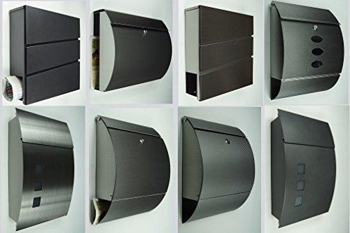 briefkasten postkasten 333 edelstahl anthrazit ral 7016. Black Bedroom Furniture Sets. Home Design Ideas