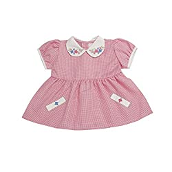 VedVid Soft Fabric Beautiful Trendy Checks Frock For New Born
