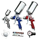 ATD Tools 6900 9-Piece HVLP Spray Gun Set