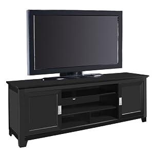we furniture 70 wood tv stand with sliding doors. Black Bedroom Furniture Sets. Home Design Ideas