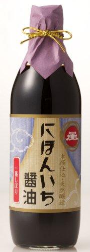 にほんいち醤油 一番しぼり (有機濃口醤油) 500ml