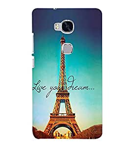 Effie Tower Dream 3D Hard Polycarbonate Designer Back Case Cover for Huawei Honor 5X :: Huawei Honor X5 :: Huawei Honor GR5