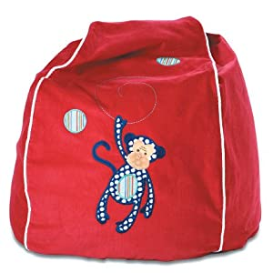 Cocoon Couture Mini Monkey Bean Bag Cover in Red/Navy from Cocoon Couture