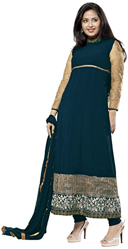 Florence Embroidered Anarkali Dress Material