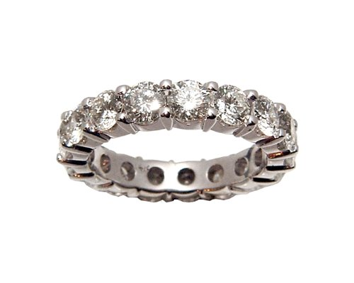 4.00 CT ROUND DIAMOND ETERNITY WEDDING BAND