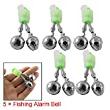 Fishing Rod Tip Bell Bait Alarm Twin Double Ring 5PCS