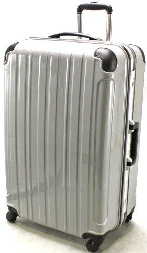 (シェルポッド) shellpod スーツケース TSAロック 軽量 アルミフレームタイプ シェルポッド HF-600 LMサイズ 鏡面シルバー(大型 7日8日9日10日11日12日・長期滞在用)【一年修理保証】【600LM/SL】