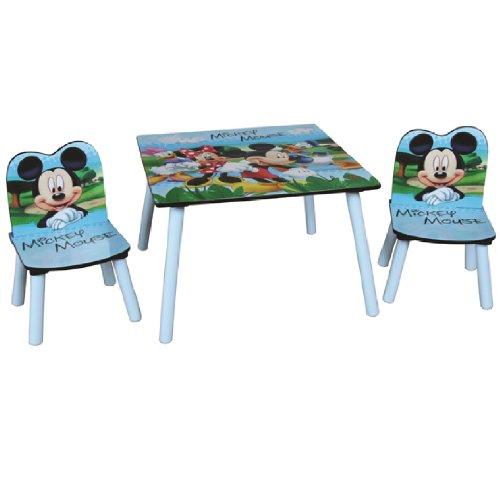 DISNEY MICKEY MOUSE BAMBINI tavolo in legno DUE